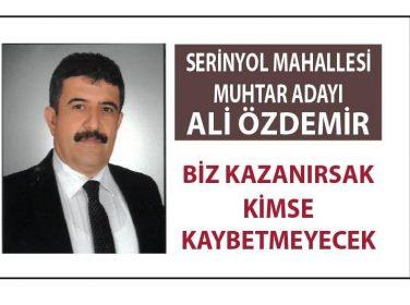 Serinyol Mahallesi Muhtar Adayı Ali Özdemir